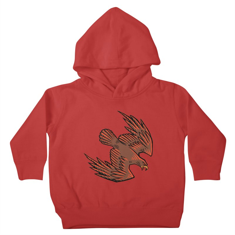 the Hawk Kids Toddler Pullover Hoody by Supersticery Shop