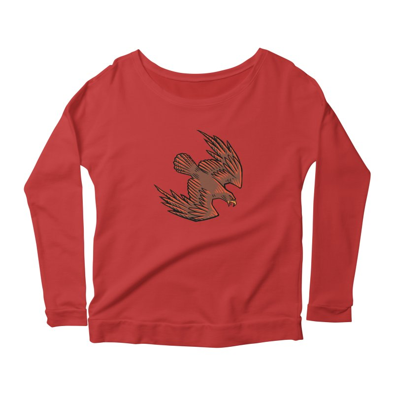 the Hawk Women's Scoop Neck Longsleeve T-Shirt by Supersticery Shop