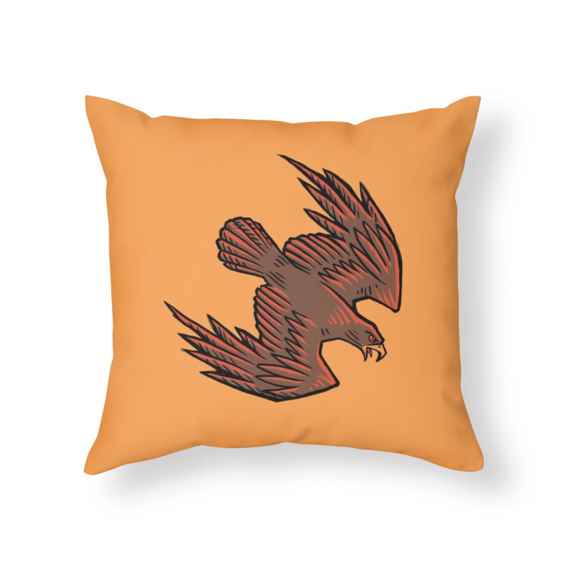 the Hawk Home Throw Pillow by Supersticery Shop