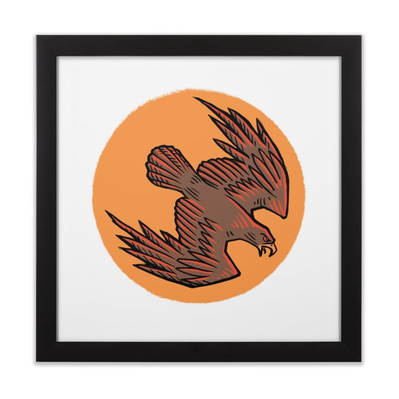 the Hawk Home Framed Fine Art Print by Supersticery Shop