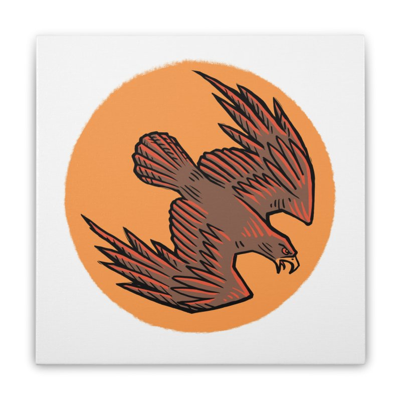 the Hawk Home Stretched Canvas by Supersticery Shop
