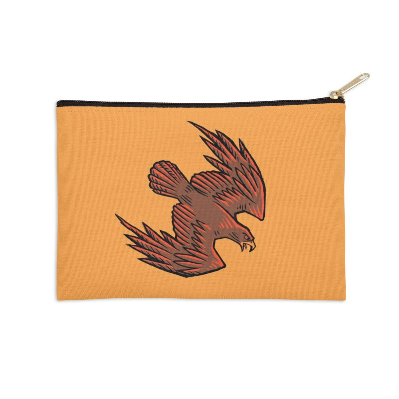 the Hawk Accessories Zip Pouch by Supersticery Shop