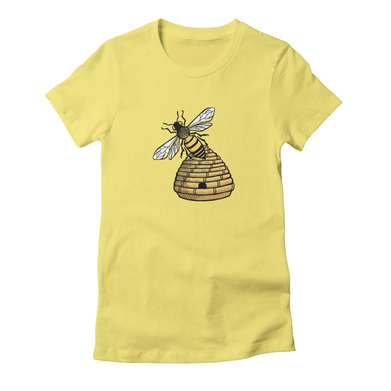 the Hive Women's Fitted T-Shirt by Supersticery Shop