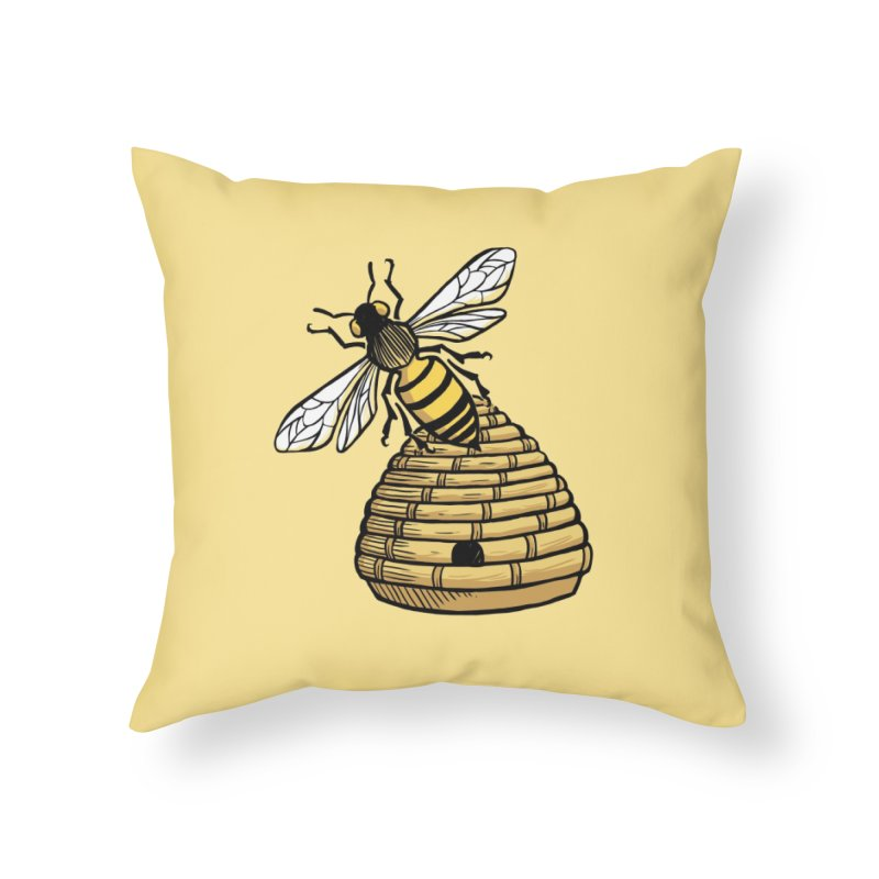 the Hive Home Throw Pillow by Supersticery Shop