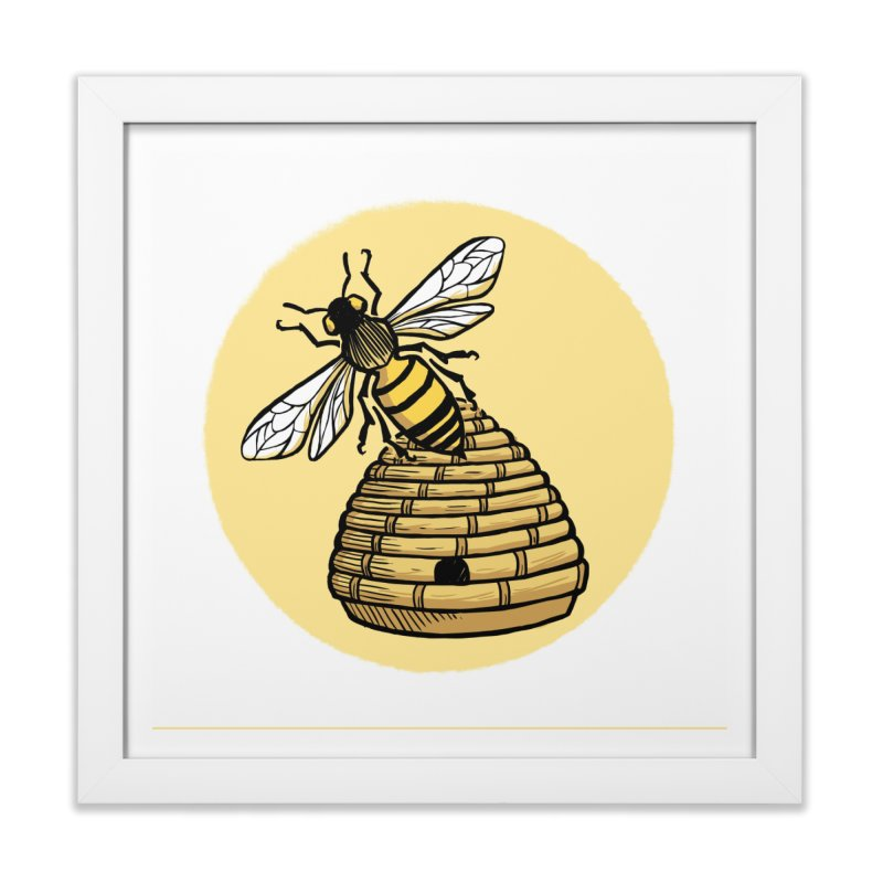 the Hive in Framed Fine Art Print White by Supersticery Shop