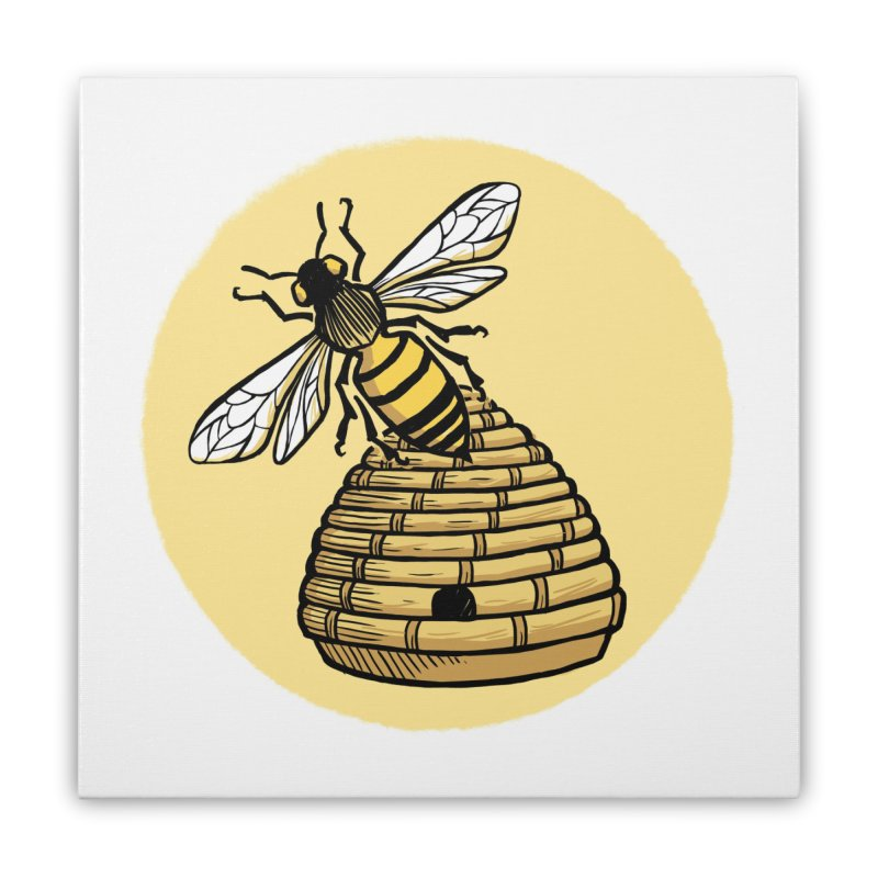 the Hive Home Stretched Canvas by Supersticery Shop