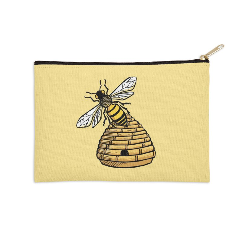 the Hive Accessories Zip Pouch by Supersticery Shop