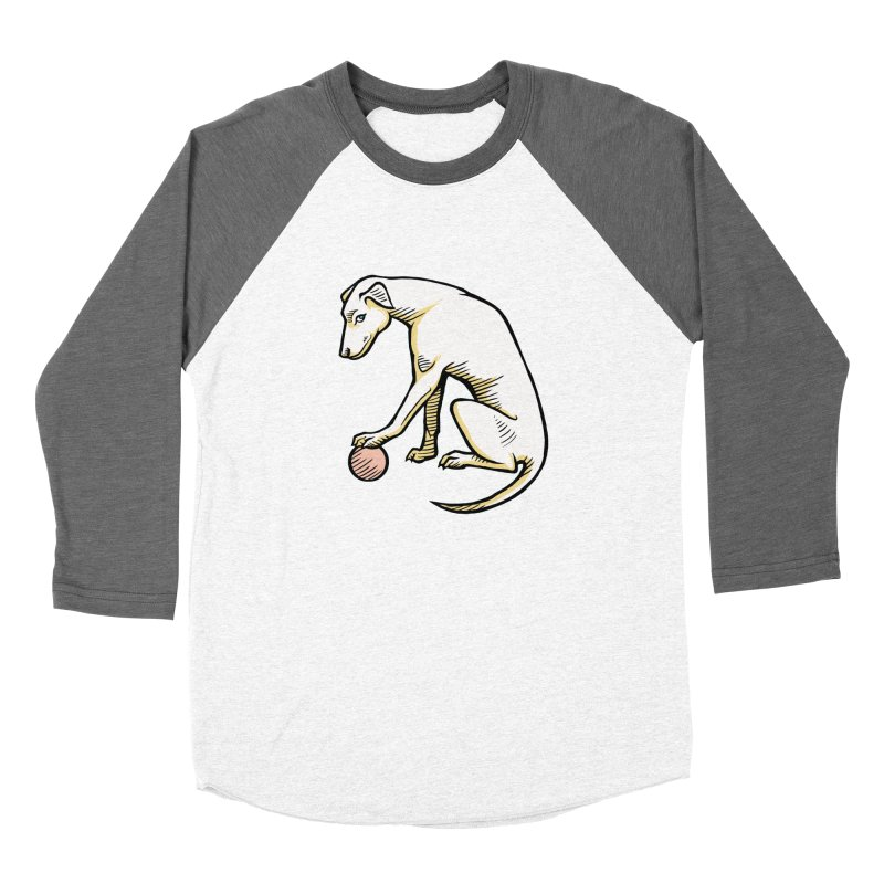 the Hound Men's Baseball Triblend Longsleeve T-Shirt by Supersticery Shop