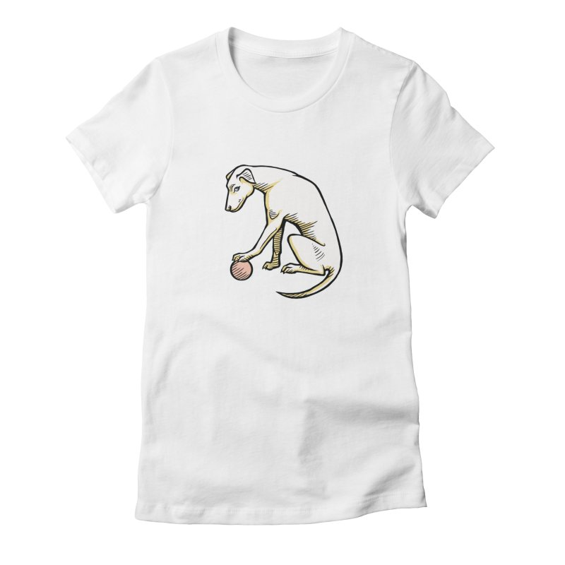 the Hound Women's Fitted T-Shirt by Supersticery Shop
