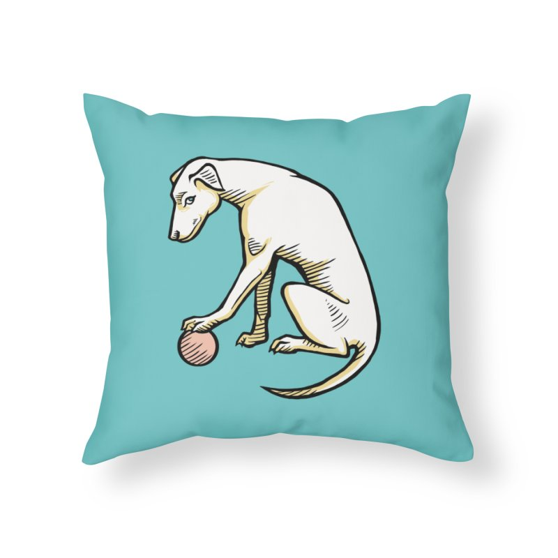 the Hound Home Throw Pillow by Supersticery Shop