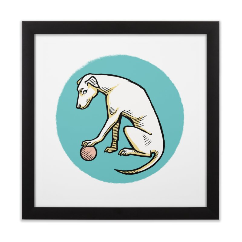 the Hound Home Framed Fine Art Print by Supersticery Shop