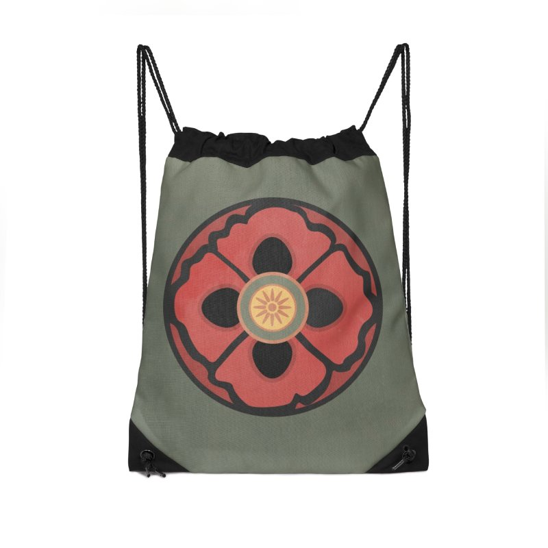 Iconic Poppy Accessories Drawstring Bag Bag by Supersticery Shop