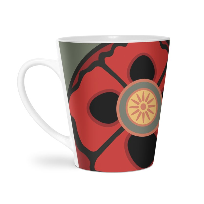 Iconic Poppy in Latte Mug by Supersticery Shop