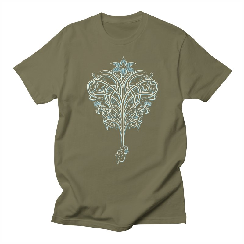 Greenman in Men's T-Shirt Olive by Supersticery Shop