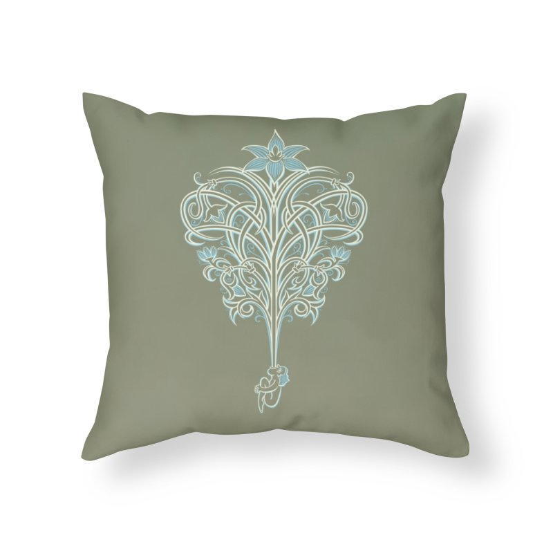 Greenman Home Throw Pillow by Supersticery Shop