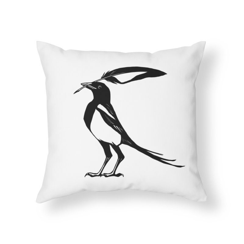 the Scribe Home Throw Pillow by Supersticery Shop