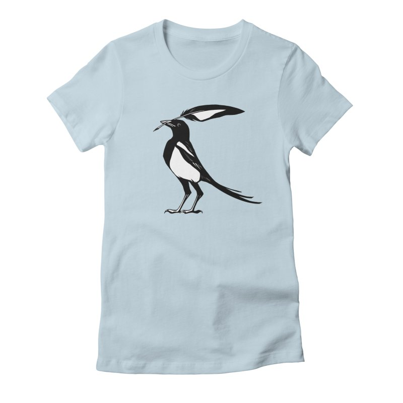 the Scribe Women's Fitted T-Shirt by Supersticery Shop