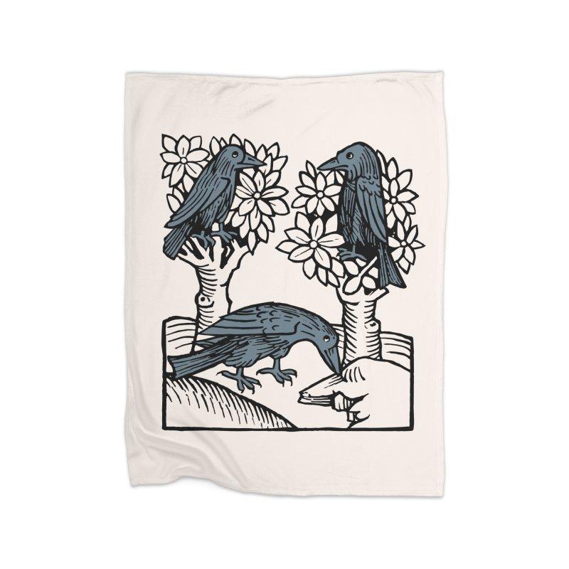 3 Ravens Home Fleece Blanket Blanket by Supersticery Shop