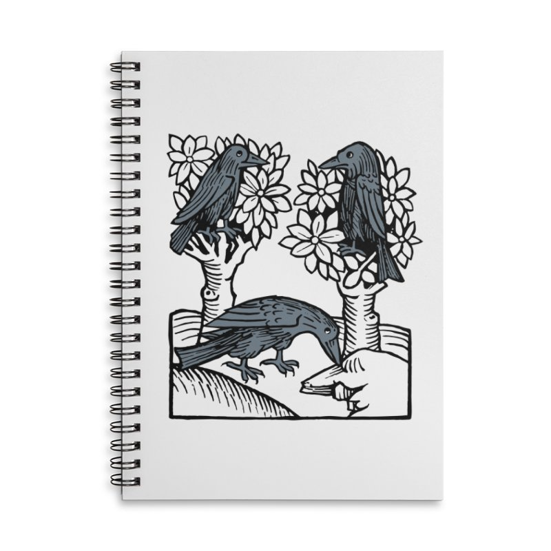 3 Ravens Accessories Lined Spiral Notebook by Supersticery Shop