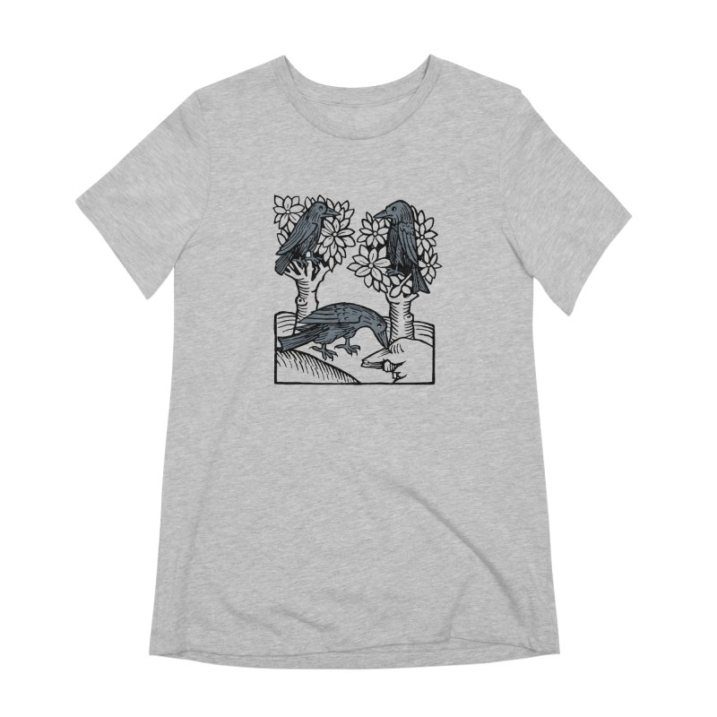 3 Ravens Women's Extra Soft T-Shirt by Supersticery Shop