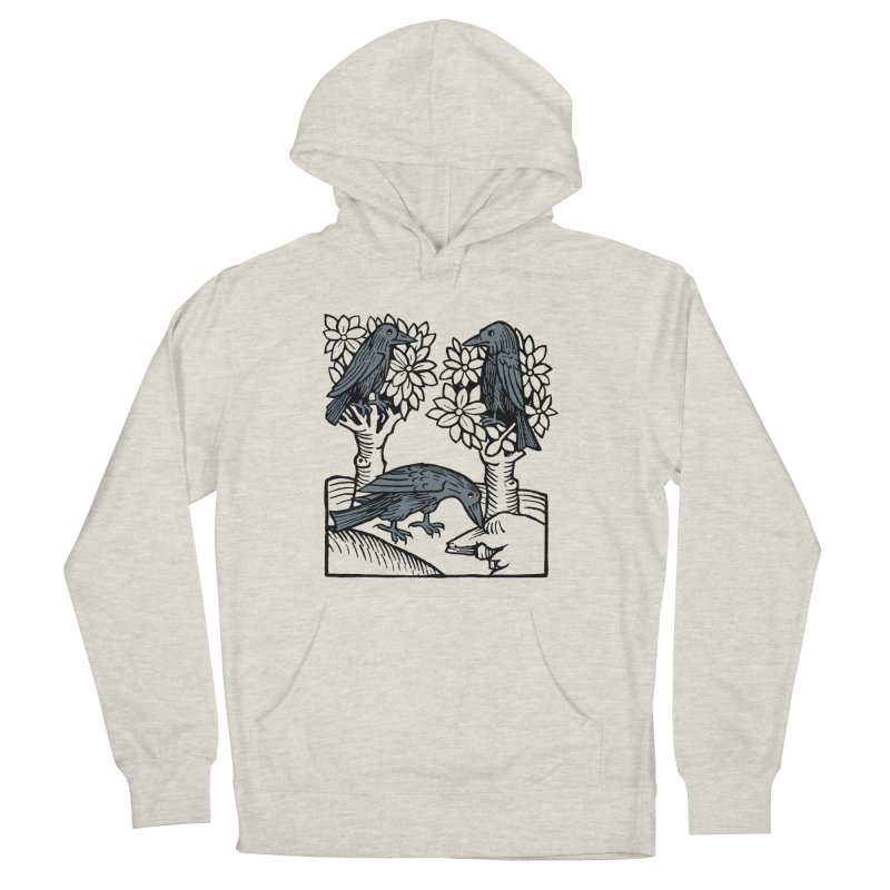 3 Ravens Women's French Terry Pullover Hoody by Supersticery Shop
