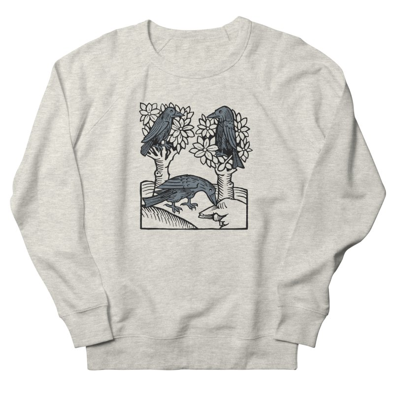 3 Ravens Men's French Terry Sweatshirt by Supersticery Shop