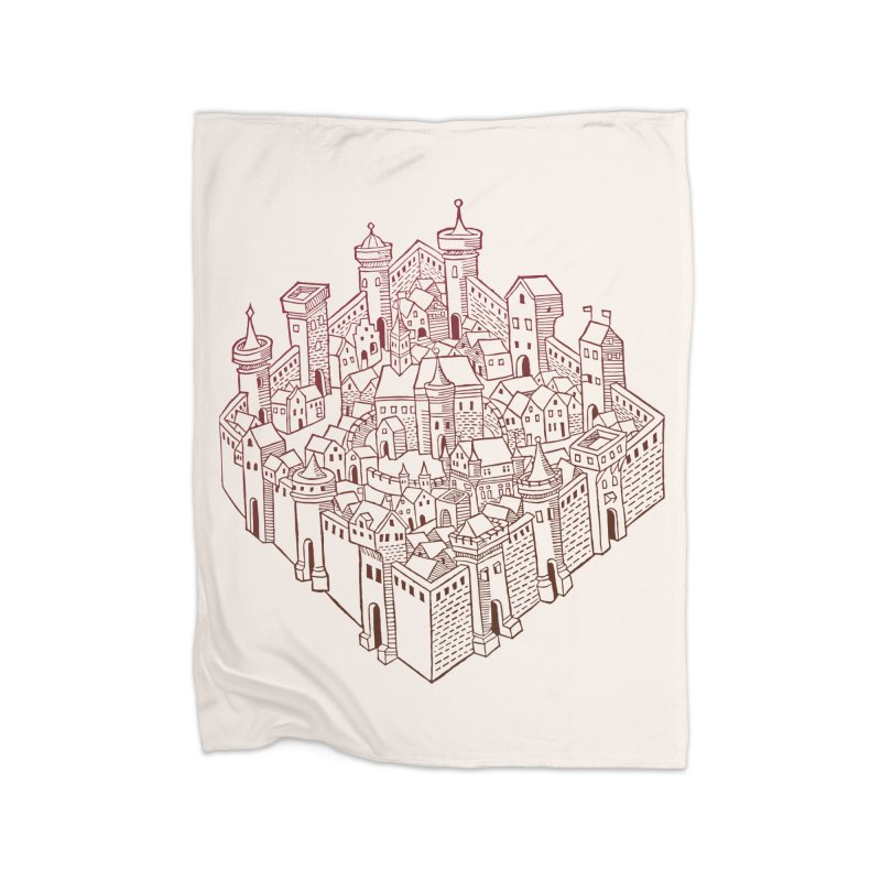 City Squared Home Fleece Blanket Blanket by Supersticery Shop