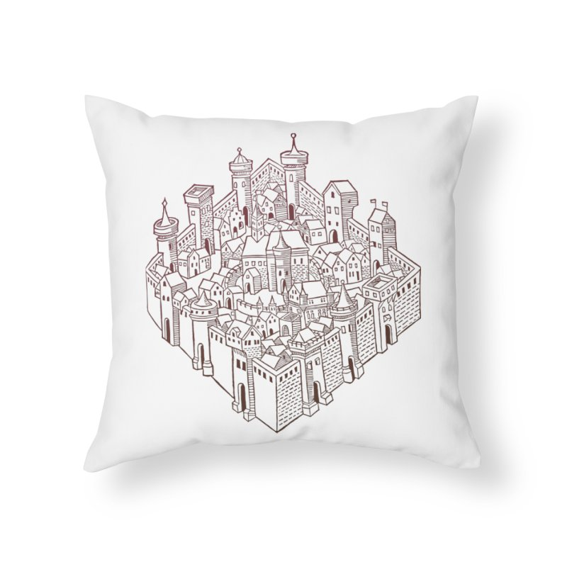 City Squared Home Throw Pillow by Supersticery Shop
