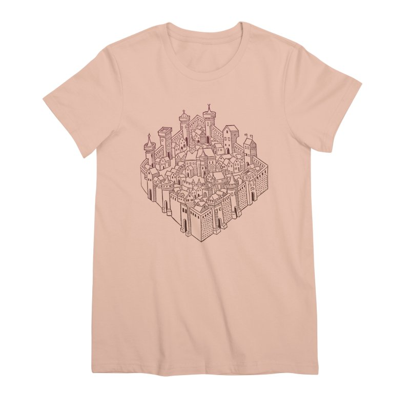City Squared Women's Premium T-Shirt by Supersticery Shop