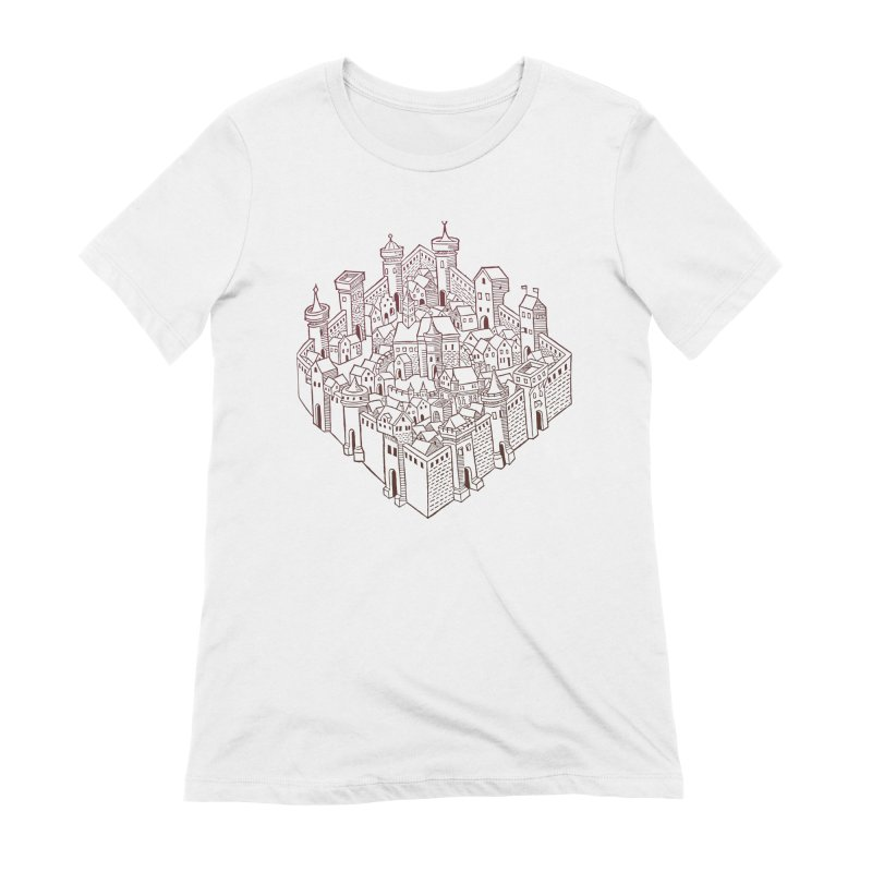 City Squared Women's Extra Soft T-Shirt by Supersticery Shop