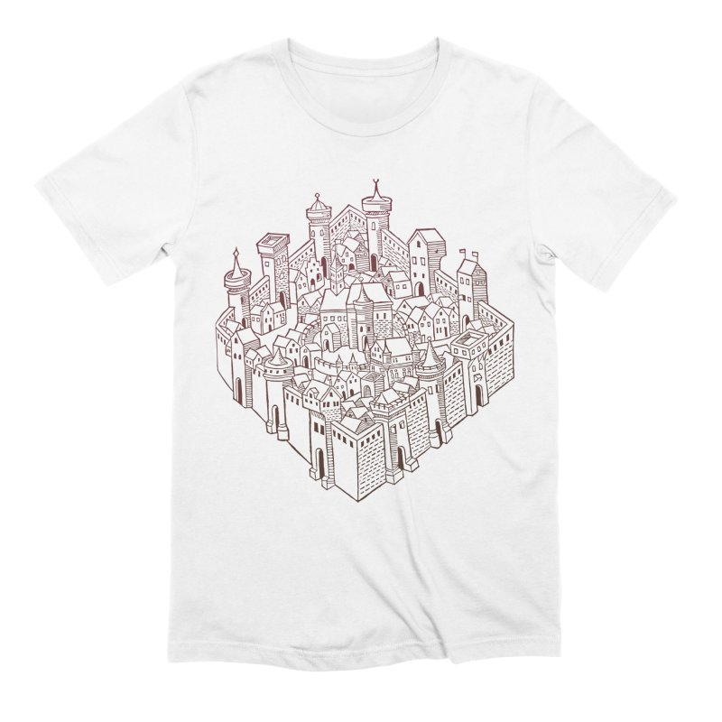 City Squared Men's Extra Soft T-Shirt by Supersticery Shop