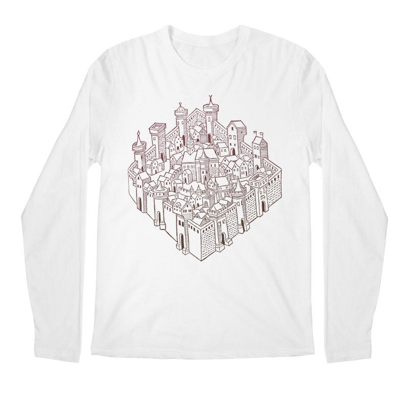 City Squared Men's Regular Longsleeve T-Shirt by Supersticery Shop
