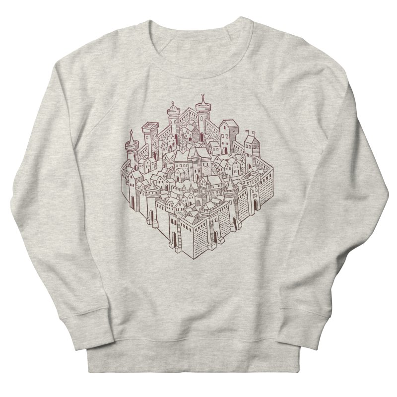 City Squared Men's French Terry Sweatshirt by Supersticery Shop