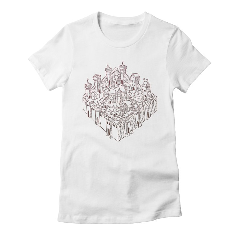 City Squared Women's Fitted T-Shirt by Supersticery Shop