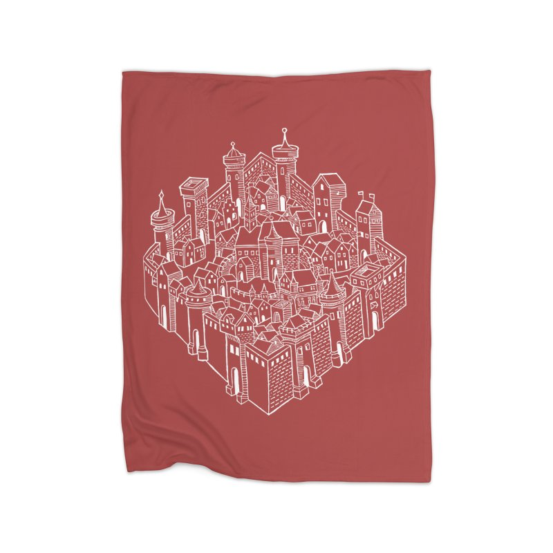 White City in Fleece Blanket Blanket by Supersticery Shop