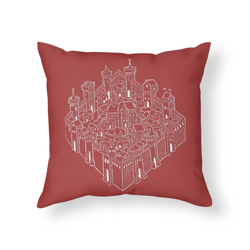 White City Home Throw Pillow by Supersticery Shop