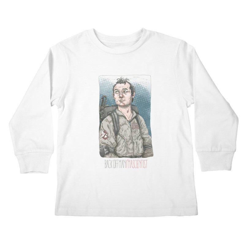 Back off Man, I'm a Scientist  Kids Longsleeve T-Shirt by supmon's Artist Shop