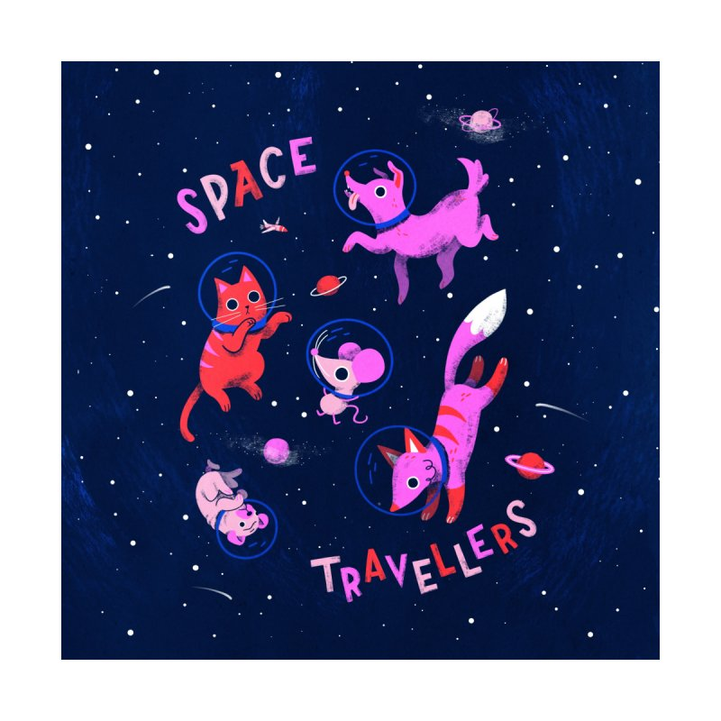 Space Travellers Home Fine Art Print by Susann Hoffmann
