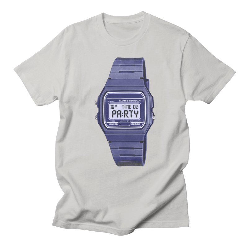 What Time Is It? in Men's T-Shirt Stone by Sushilove Official Store