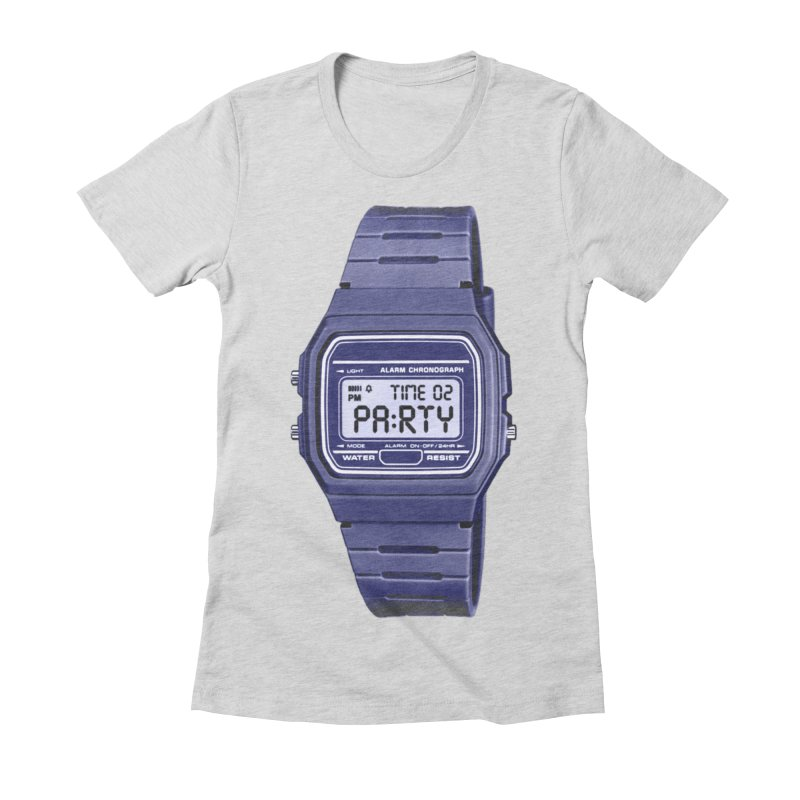 What Time Is It? Women's Fitted T-Shirt by Sushilove's Store