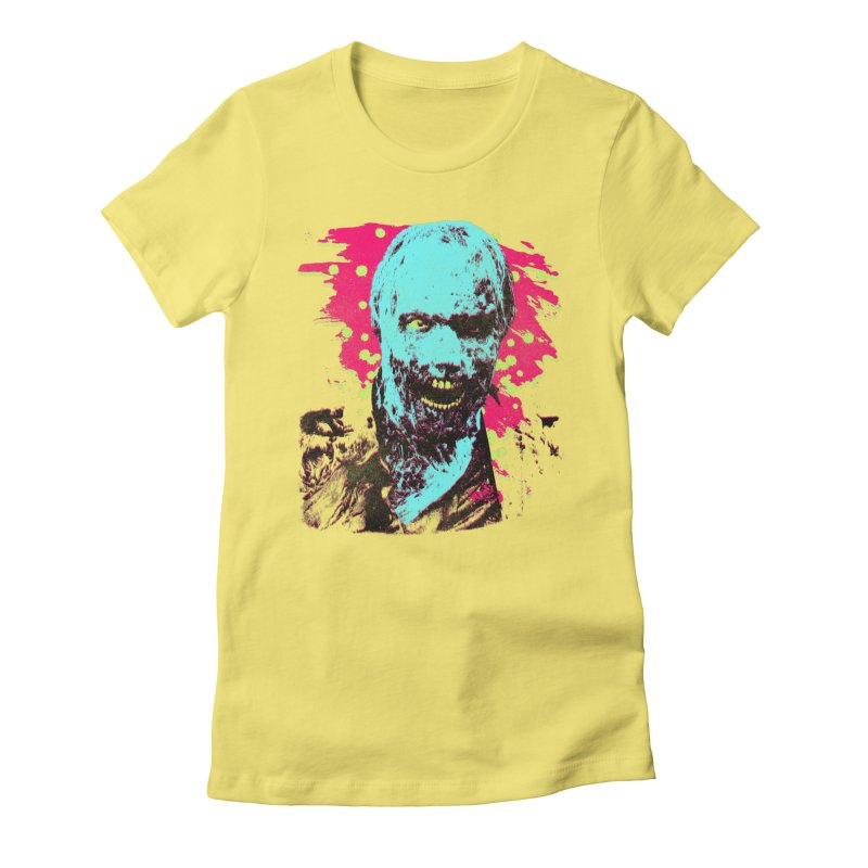 Pop Zombie Women's Fitted T-Shirt by Sushilove Official Store