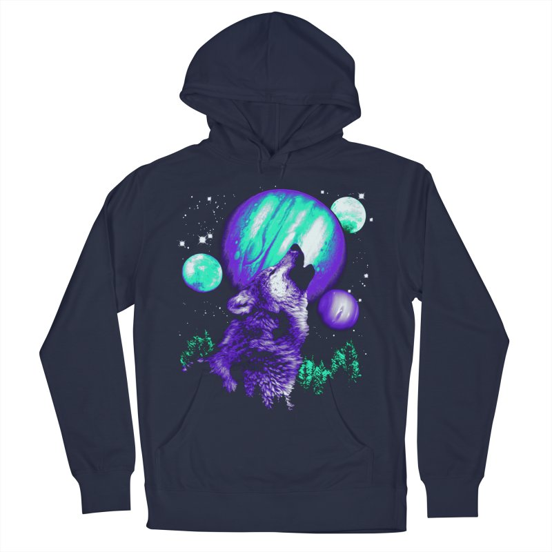 Space Wolf Women's Pullover Hoody by Sushilove Official Store