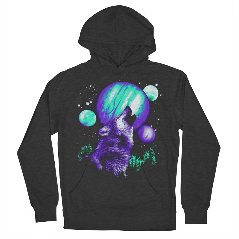 Space Wolf Men's Pullover Hoody by Sushilove's Store