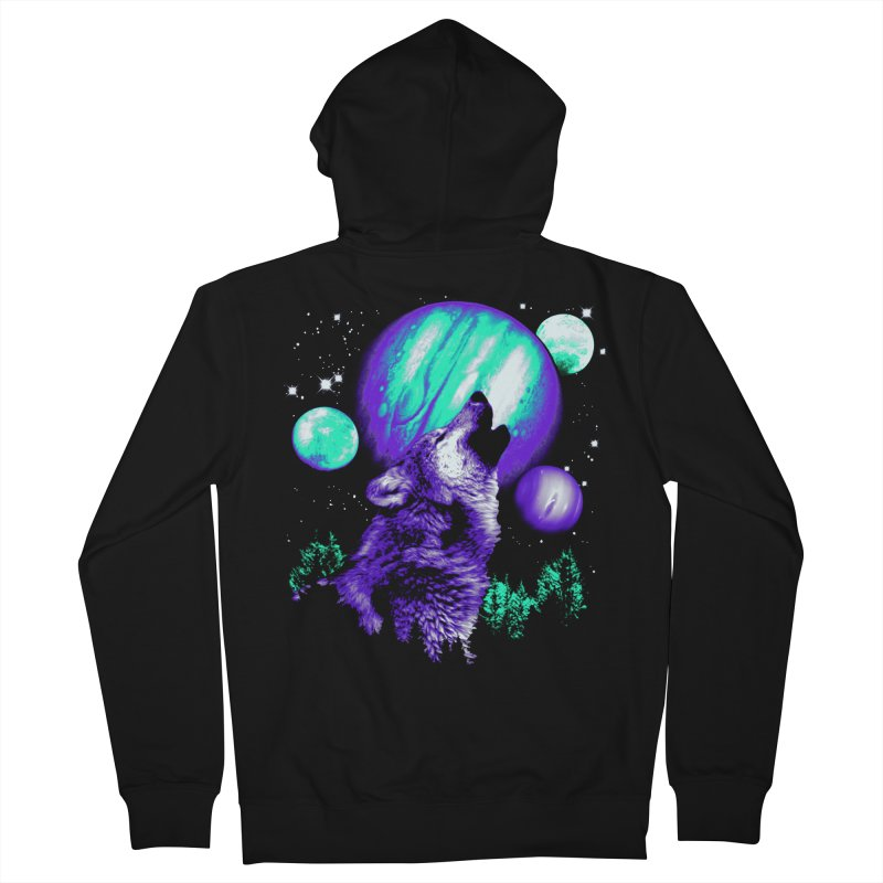 Space Wolf Men's Zip-Up Hoody by Sushilove Official Store