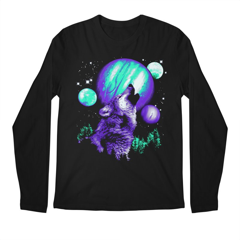 Space Wolf Men's Longsleeve T-Shirt by Sushilove's Store
