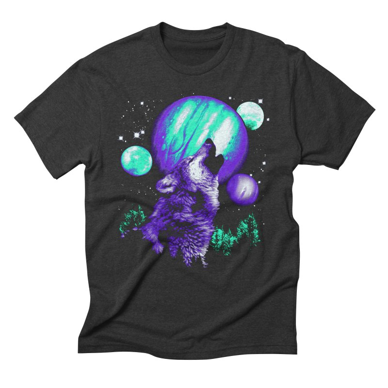 Space Wolf Men's Triblend T-shirt by Sushilove Official Store
