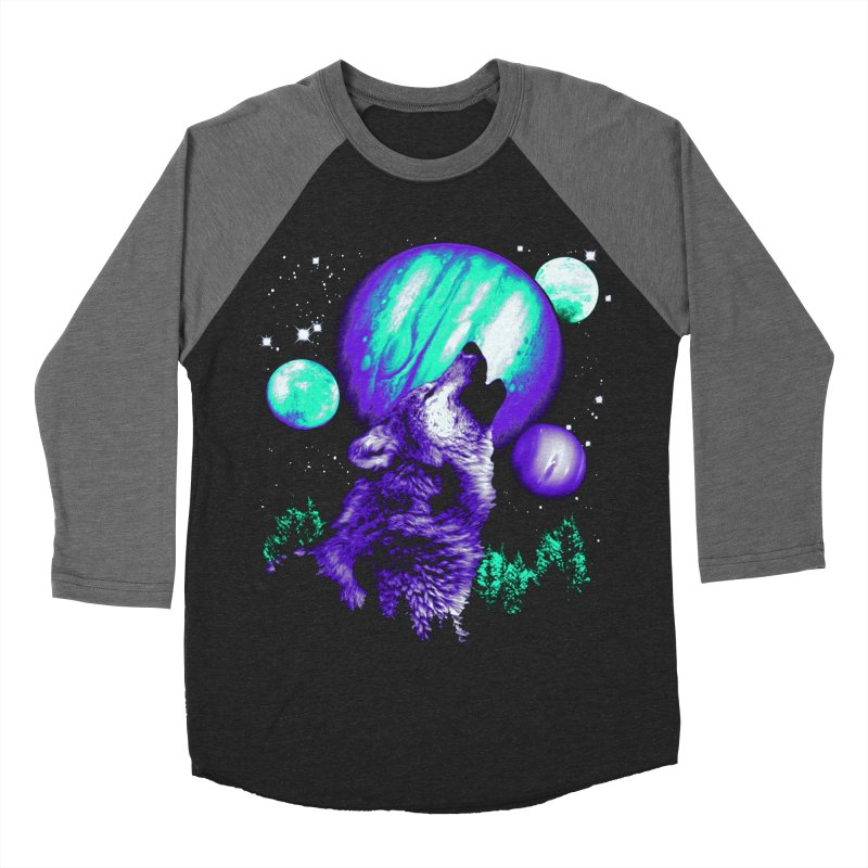Space Wolf Men's Baseball Triblend T-Shirt by Sushilove Official Store
