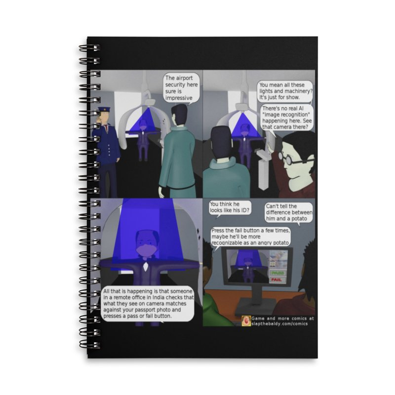 Slap the Baldy: Advanced Airport Security Accessories Notebook by SushiMouse's Artist Shop