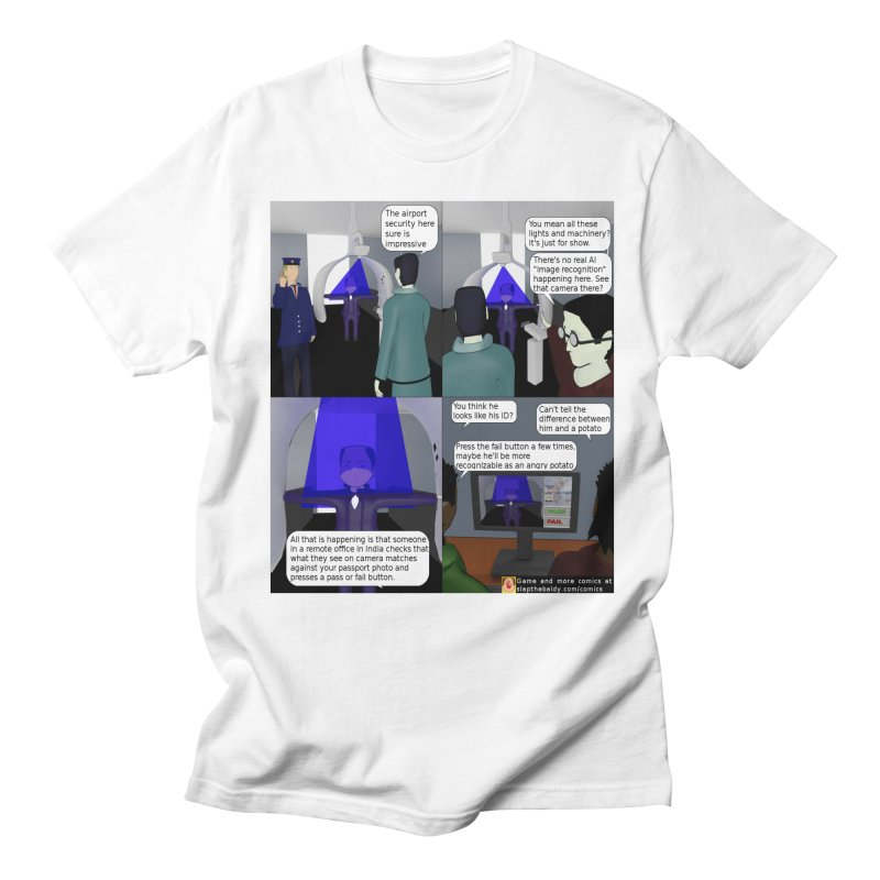 Slap the Baldy: Advanced Airport Security Men's Regular T-Shirt by SushiMouse's Artist Shop