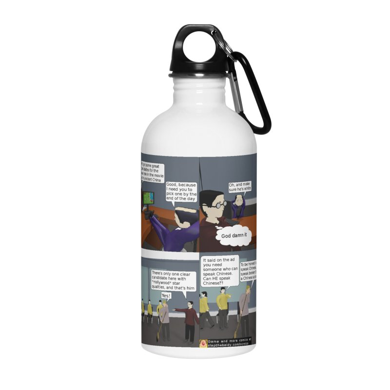Slap the Baldy: How it went down in Hollywood Accessories Water Bottle by SushiMouse's Artist Shop